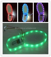 chargeable color changing usb led light flashing for shoes
