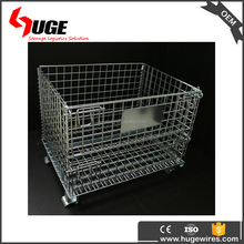 galvanized cheap wire mesh metal stacking basket container for sale