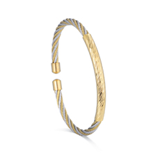 High Quality Blank Wire Open Bangle Man Stainless Steel Jewelry Bracelet
