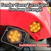 3W yellow/amber Side Marker Light for jeep