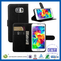 C&T New Luxury PU Leather Wallet Protective Flip Case Cover for Samsung Galaxy S7