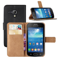 Genuine Leather Wallet Case Cover for Samsung Galaxy Trend Plus S7580
