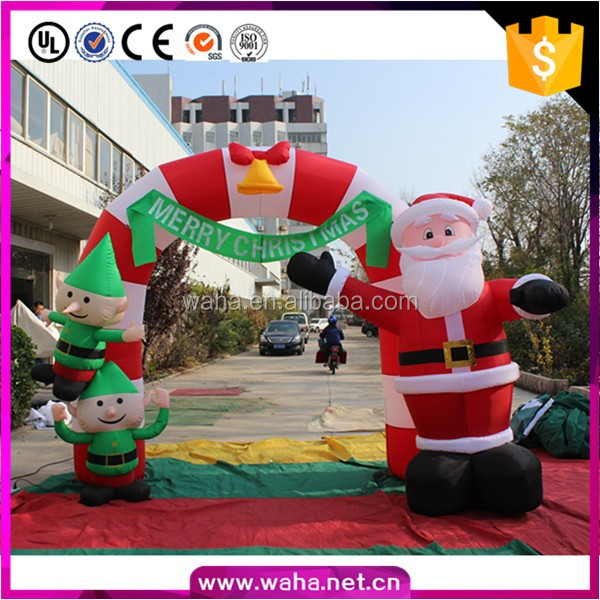 led christmas decoration indoor santa archway arch inflatable