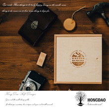 Hongdao popular wedding gift cuntomized wooden USB flash drives with box