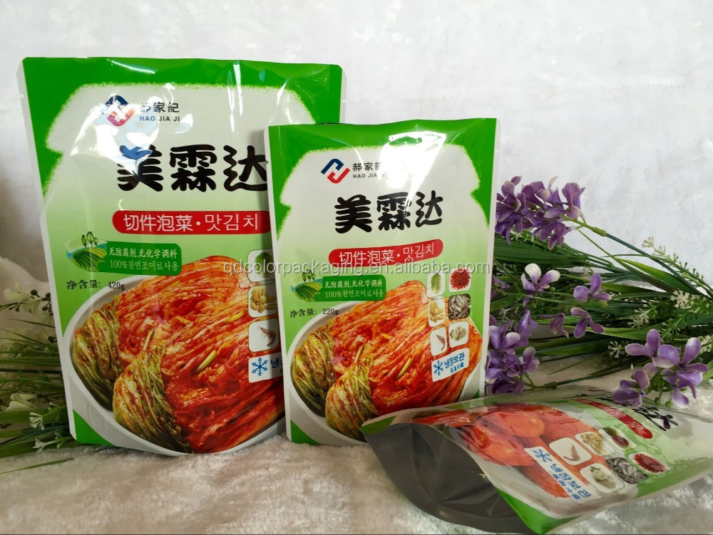 Korean Kimchi food plastic bags, pickled vegetables packing bag