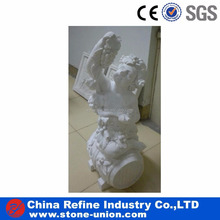 Cheap price stone garden white marble children statue