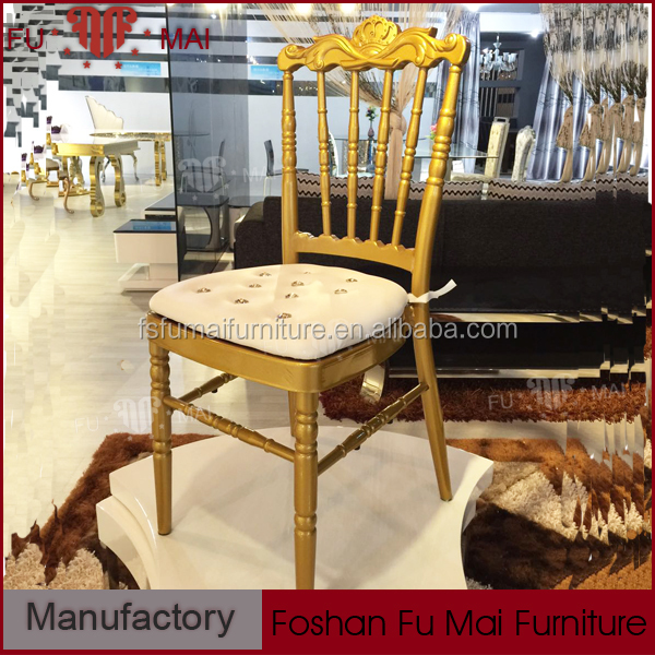 Gold Aluminum Banquet Furniture Crown Royal Napoleon Chair