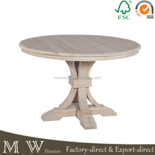 french oak wooden round dining table,natural antique rustic dining table