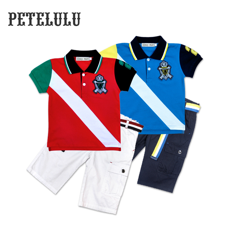Guangzhou Different Color Sleeves Colorblocking Uniform Polo Shirt For Kids