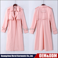 Latest Design Fashion Ladies Casual Winter Coats Top Selling Elegant Long Sleeve Women Trench Coat