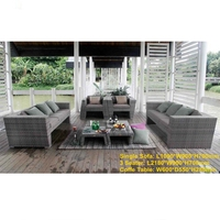 PE Wicker Three Seater Garden Sofas set Outdoor Furniture Rattan China MCD1011