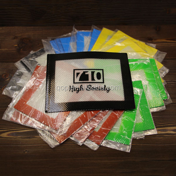 OEM Logo silicone mat oil-slick bho wax concentrate pads