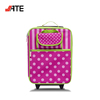 Factory Small Custom Suitcase Trolly Bag Luggage with Cosmetic Pouch