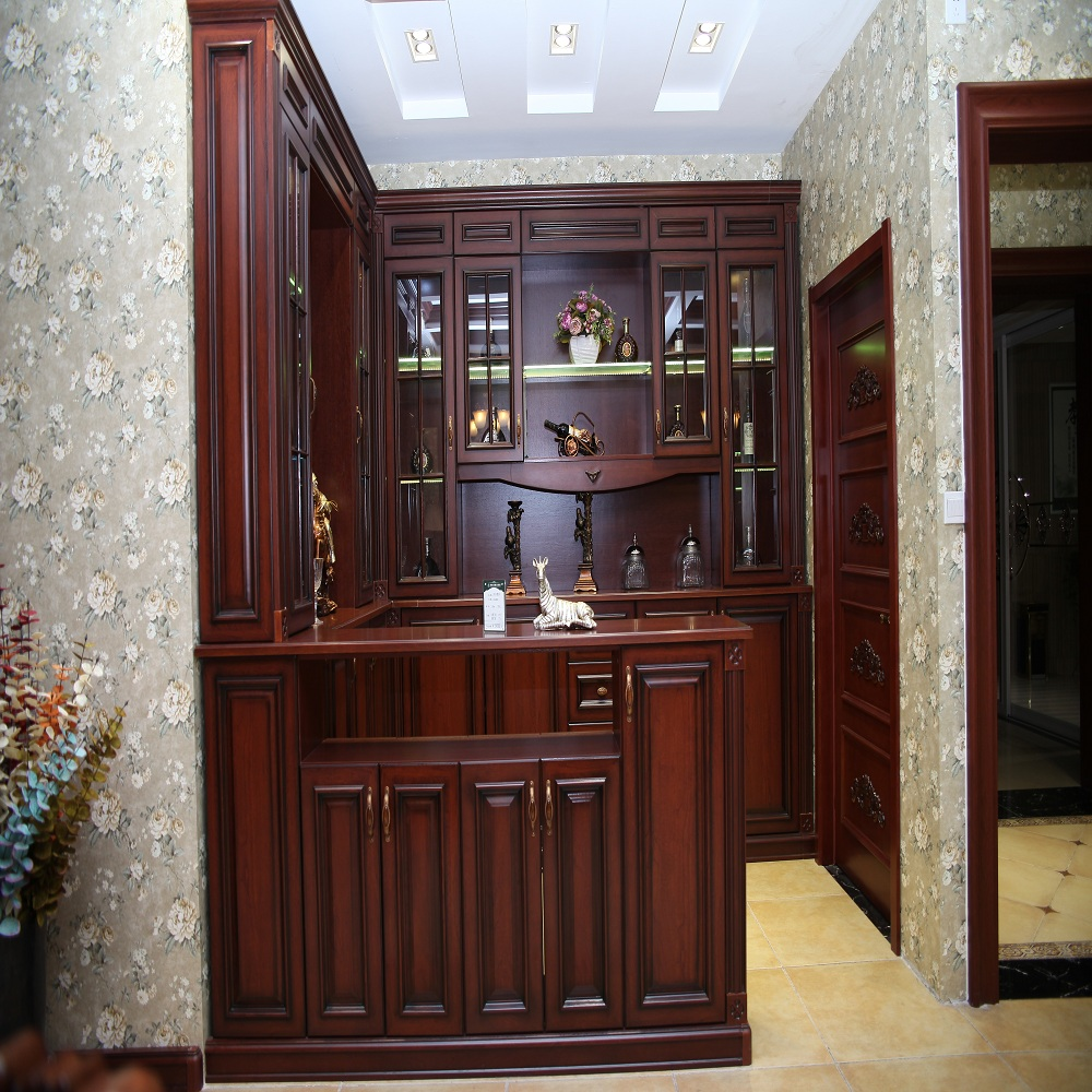Custom modern design high quality corner unique liquor cabinets
