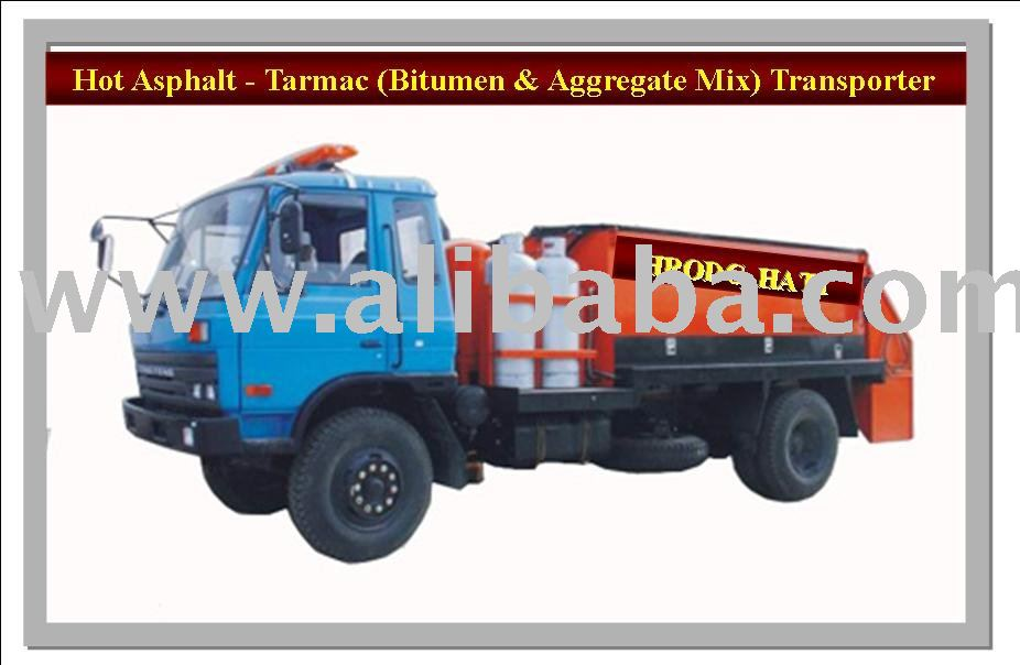 Hot Asphalt, Tarmac, Bitumen-Aggregate-Sand-Mixture Transporter Trucks