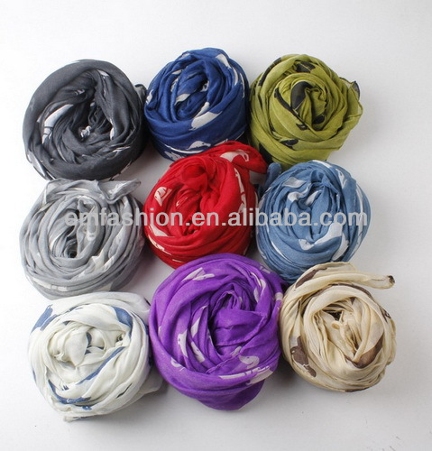 12 Colors Available Fashion Cheap Lovely Puppy Dog Print Women's Voile <strong>Scarf</strong>