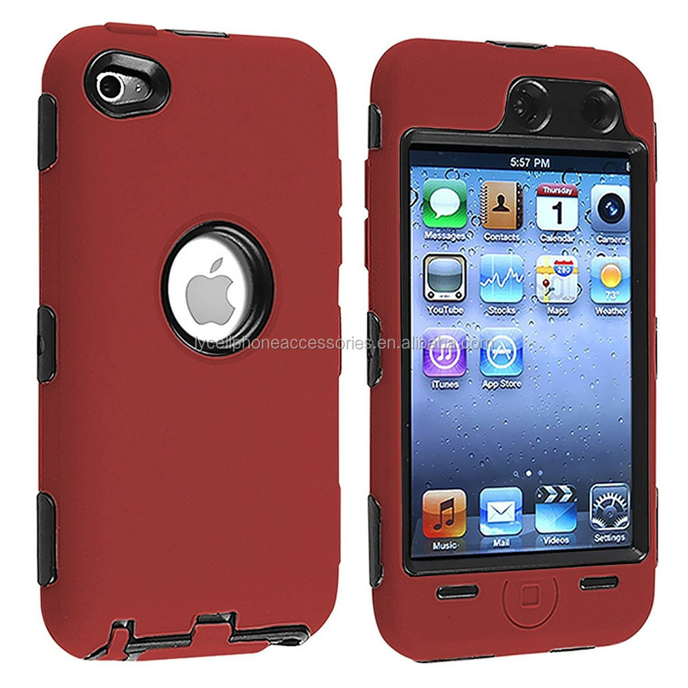 Fashion Hard Soft Premium Silicon Phone Case Skin Cover for iPod Touch 4G 4