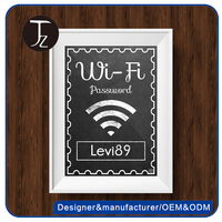 High Quality plastic acrylic warning board for wifi sign,vintage embossed wall palque