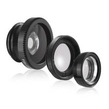 2018 Amazon Mobile Phone Lens Clip Lens Kit 3 in 1 Fisheye Wide-angle Macro Lens for Smartphone