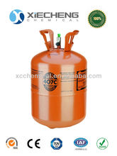 refrigerant gas r407c with 99.9% Purity 24lb Disposable cylinders