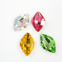 Colorful horse eye shape point back rhinestone high quality <strong>crystal</strong> stone for jewelry making