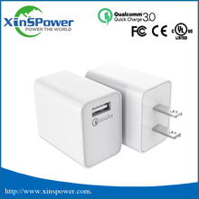 Hot sale in 2017 Qualcomm Quick Charge 3.0 4 ports USB Wall Charger QC3.0 Travel charger home charger for Nokia