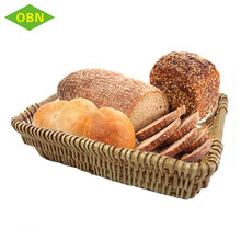 Cheap Wholesale Set 3 Handmade Natural Flat Trays Rattan Woven Wicker Fruits Bread Basket for Food Storage
