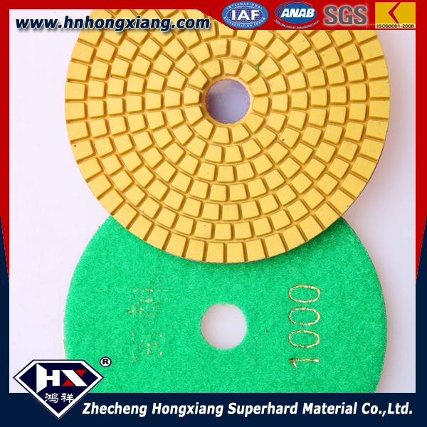 100mm spiral granite polishing pads flexibe diamond polishing pad grit 50#-5000#