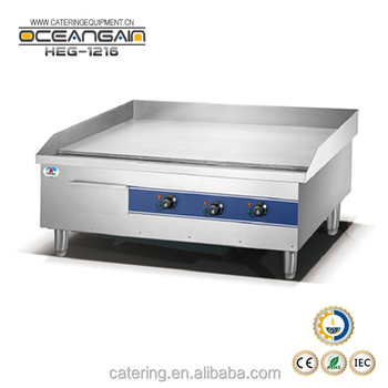 HEG-1216 square electric flat griddle for catering