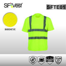 Custom Hi vis Reflective safety Polo t shirt new style