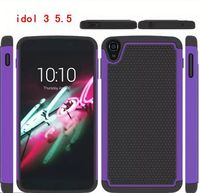 Fashion Mobile Phone accessories PC + Silicone hybrid Cover Case for Alcatel One Touch Idol 3 5.5