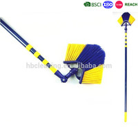 factory price 360 degree swivel ceiling broom, corner broom, eave sweeping broom