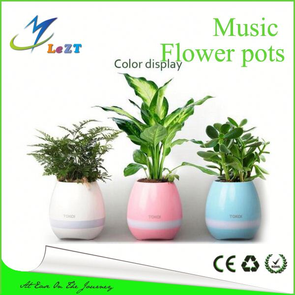 Smart Piano Playing Music Flower Pot with Super Bass Bluetooth Speaker LED Night Light Lamp as Best Idea Gifts for Family and Fr