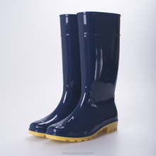 Dark Blue Shinny Pretty Lady fashion Pvc rain boots, Cheap Wellies boot,Gardening overshoes manufactuer farm boot wholesale