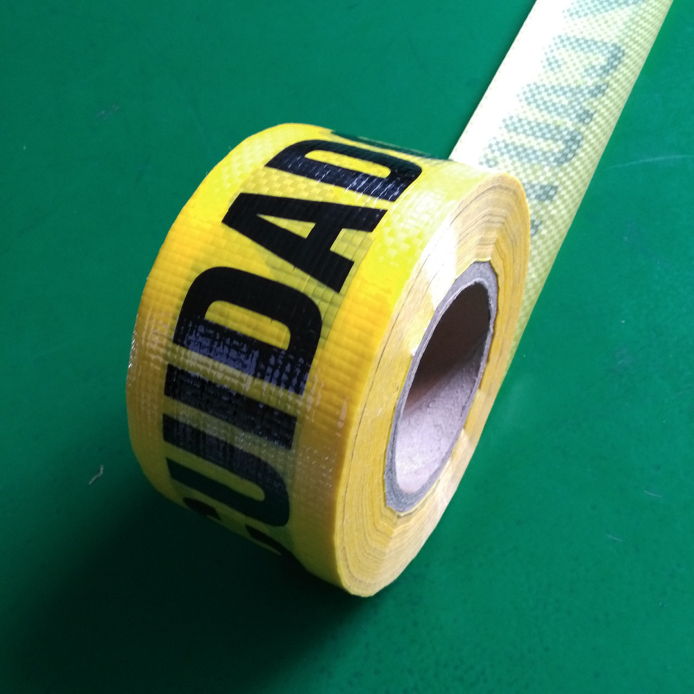 woven tape yellow barricade tape