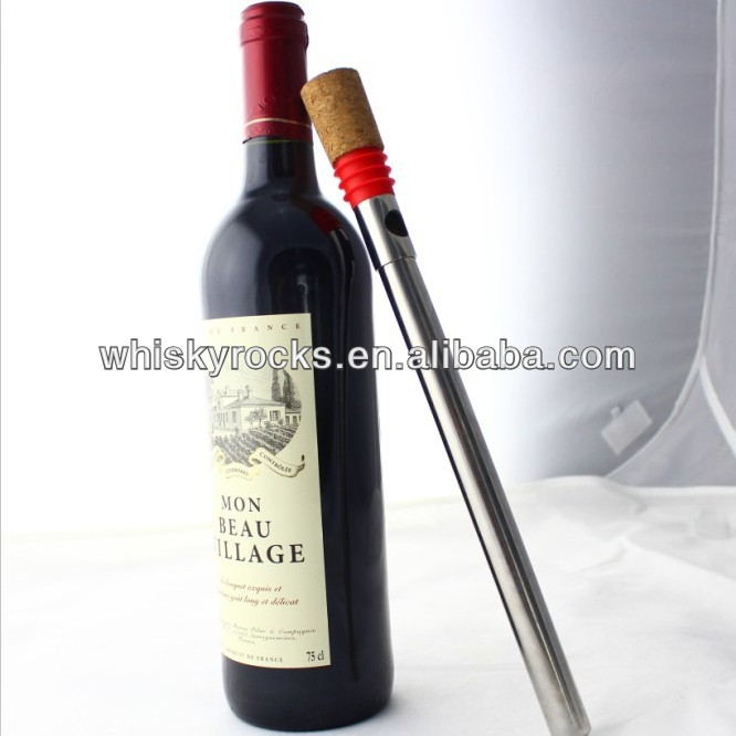 multi-functional stainess steel wine chiller stick Seal and Pour Your Wine
