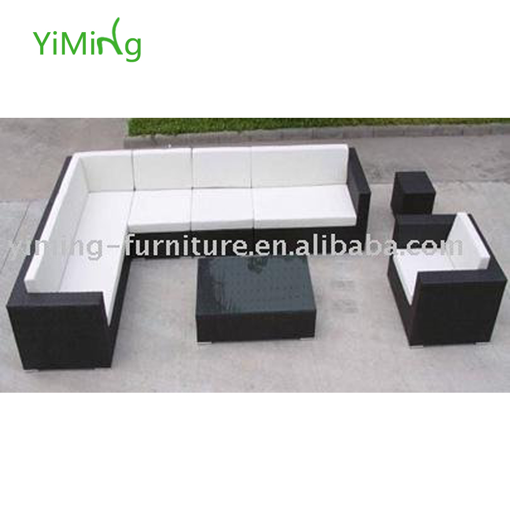 Bella taman hitam besar sudut sectional sofa lounge rotan outdoor furniture buy product on alibaba com