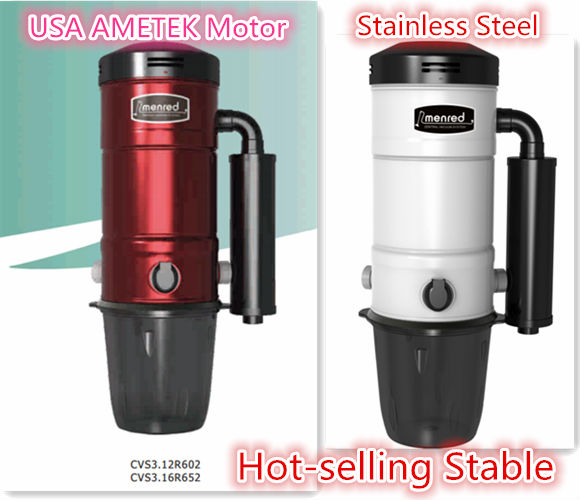 Menred high water vacuum cleaner price with AMETEK motor/dust Central vacuum cleaner system for apartment hotel villa
