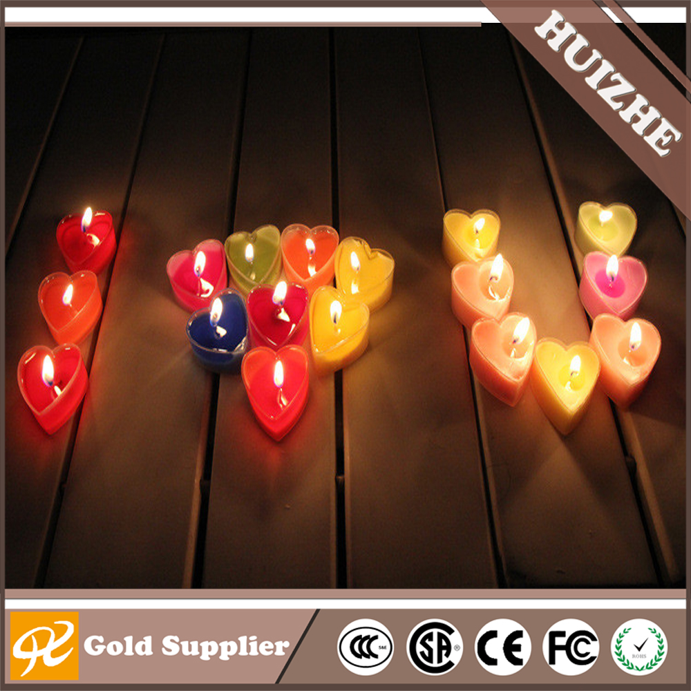 Valentine's Day lover romantic heart-shaped plastic jelly candle