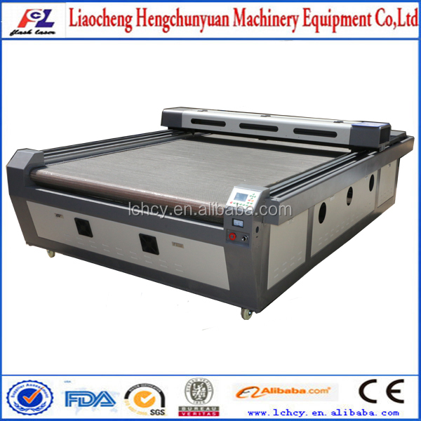Dual head auto feeding laser cutting machine for fabric/carpet cutting with roller system
