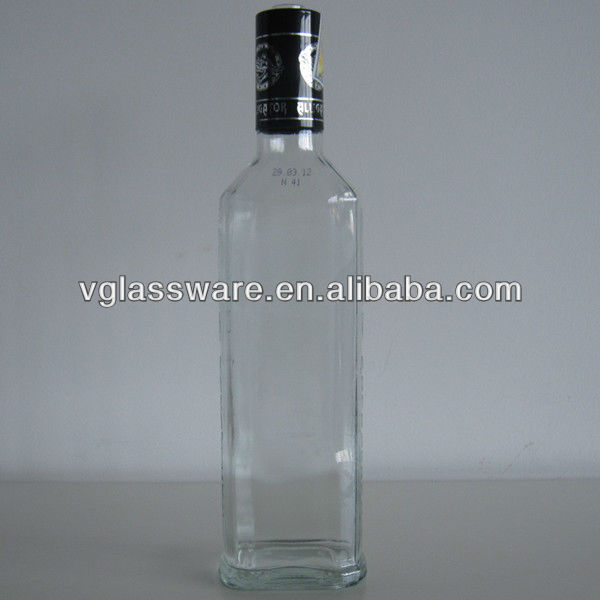rum glass bottle clear flat bottles 750ml screw top alcohol bottle