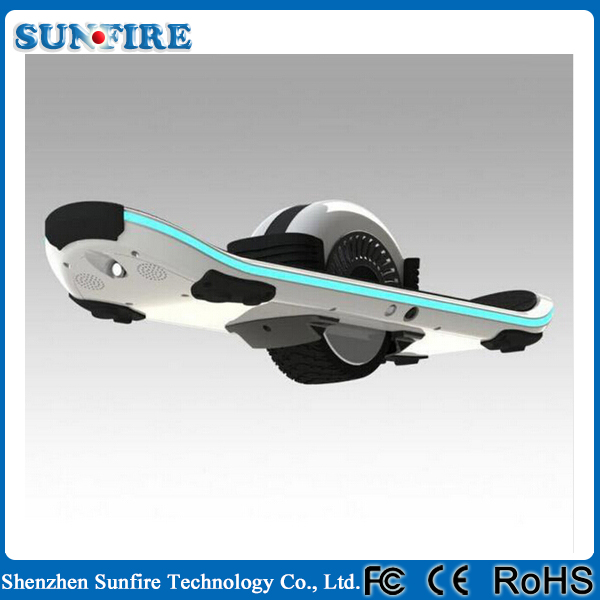 2016 popular self balancing one wheel bluetooth one wheel hover board with LED light