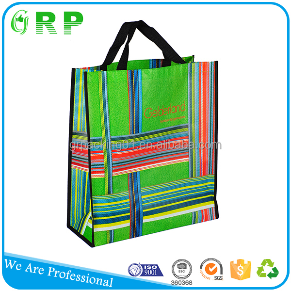 Wholesale reusable custom promotion pp non-woven shopping bag
