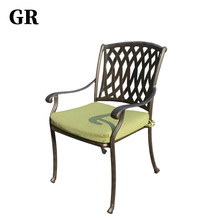 China Factory Outdoor Furniture Luxury Garden Cast Aluminum Chair