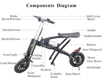 best selling mini motorbike electric bicycle mini foldable bike motorbike for kids