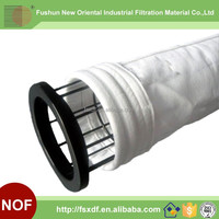 Polyester filter sock for metallurgy of iron and steel ore sintering process