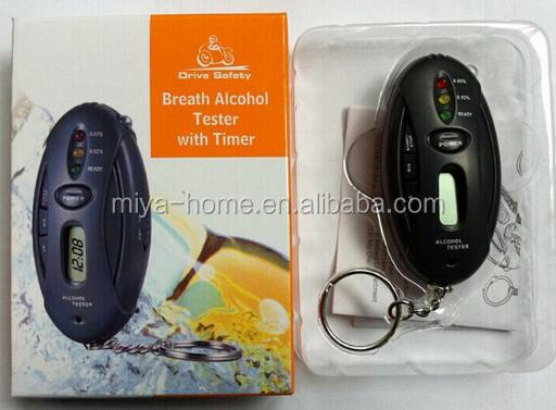New design breathalyzer alcohol tester with timer / alcohol breath tester / keychain alcohol tester