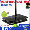 2016 Wholesale 2G/16G RK3368 Octa Core Android 5.1 TV Box with 4K output Kodi 16.0 Wifi 1000M LAN Android Smart TV Set Top Box
