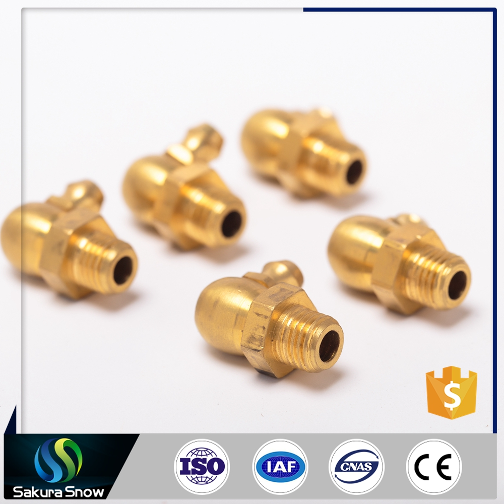 High Quality M10X1 brass Grease zerk nipple with ball check