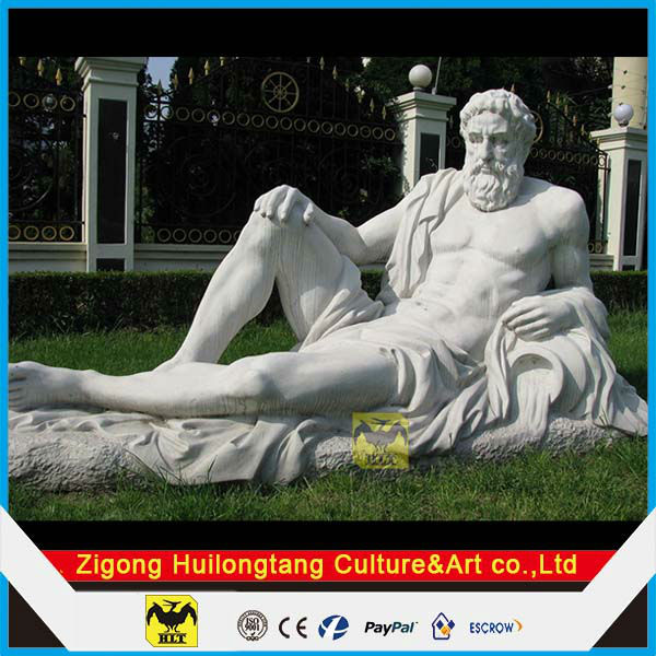 Garden sculpture of Zeus statue in fiberglass